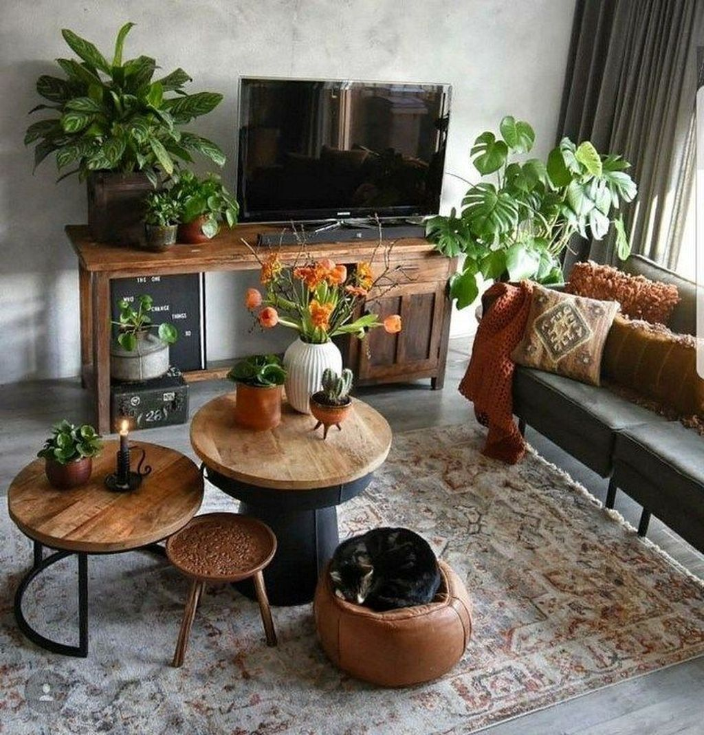 Lovely Bohemian Living Room Decor Ideas 08