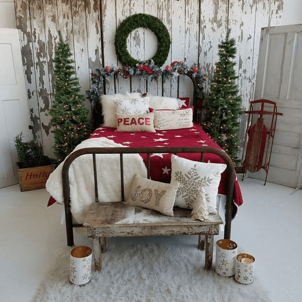 Lovely Christmas Kids Bedroom Decorations 06