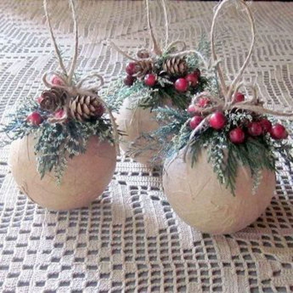 Nice Christmas Rustic Ornaments For Home Decoration 14