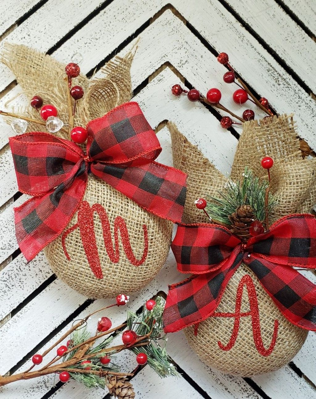 Nice Christmas Rustic Ornaments For Home Decoration 26