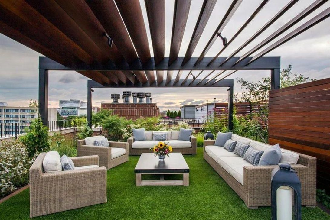 Nice Rooftop Terrace Design Ideas 34