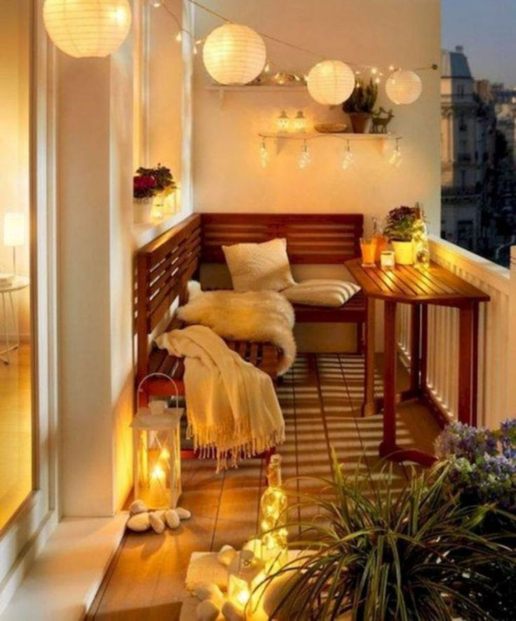Stunning Apartment Balcony Decor Ideas For This Winter 32