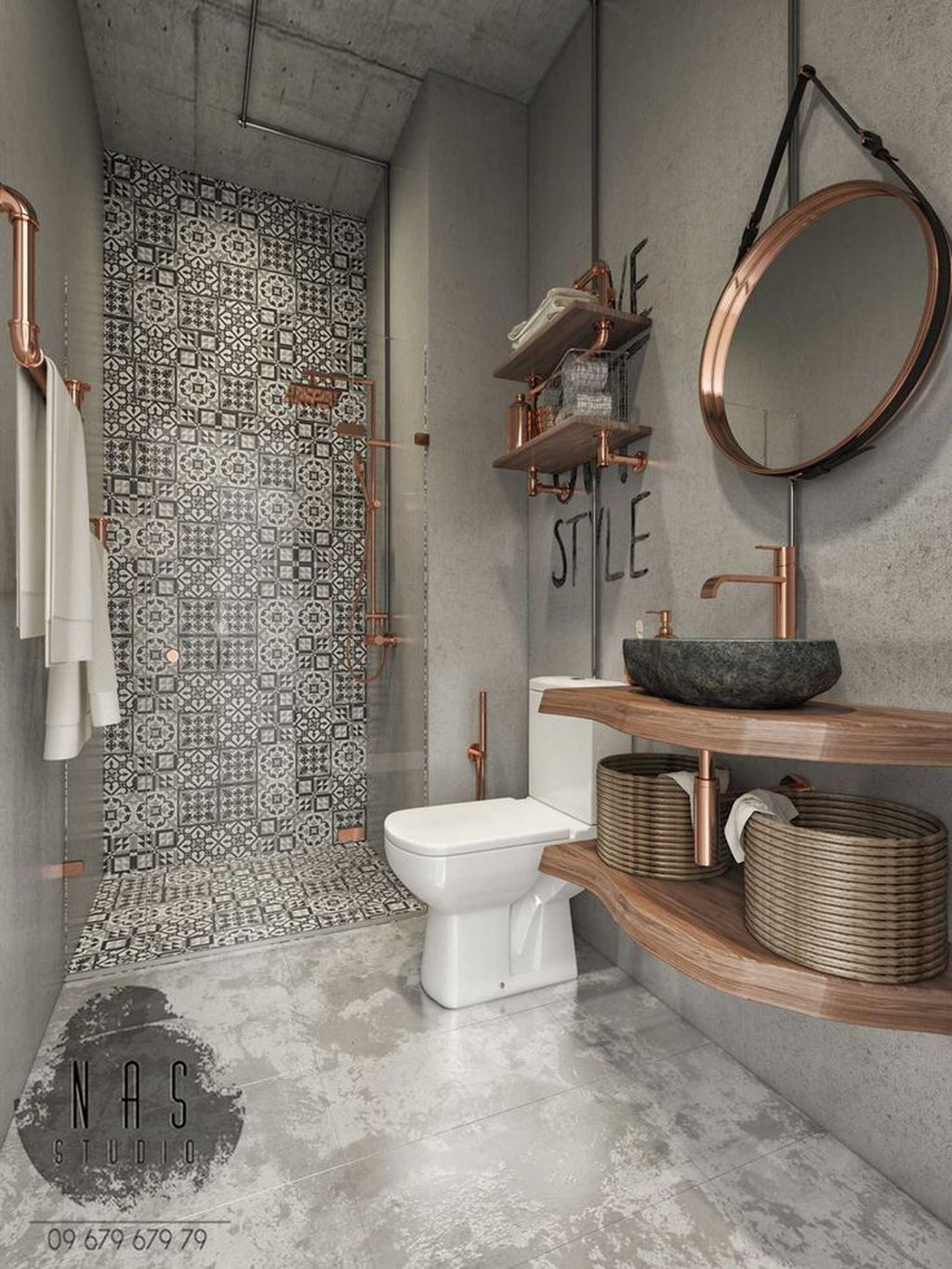 Stunning Industrial Bathroom Design Ideas 02