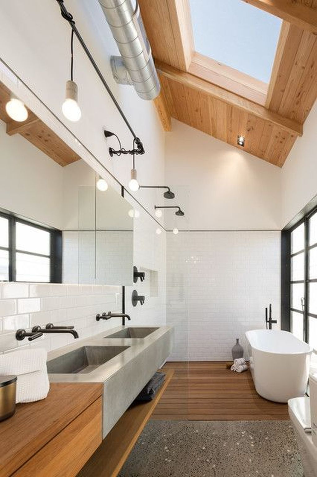 Stunning Industrial Bathroom Design Ideas 07