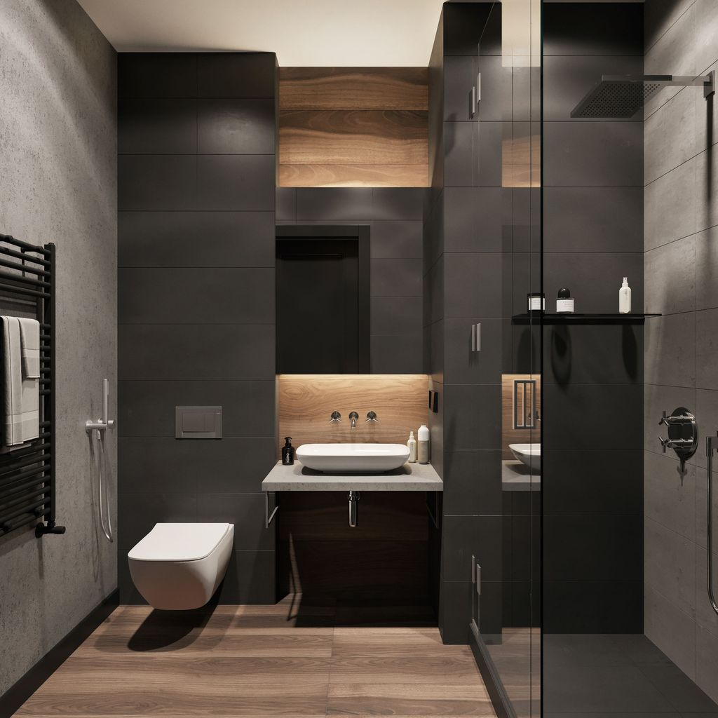 Stunning Industrial Bathroom Design Ideas 18
