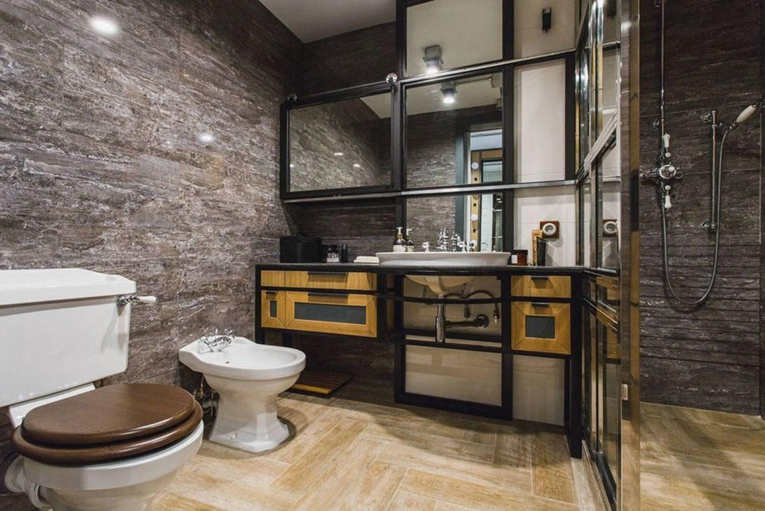 Stunning Industrial Bathroom Design Ideas 24