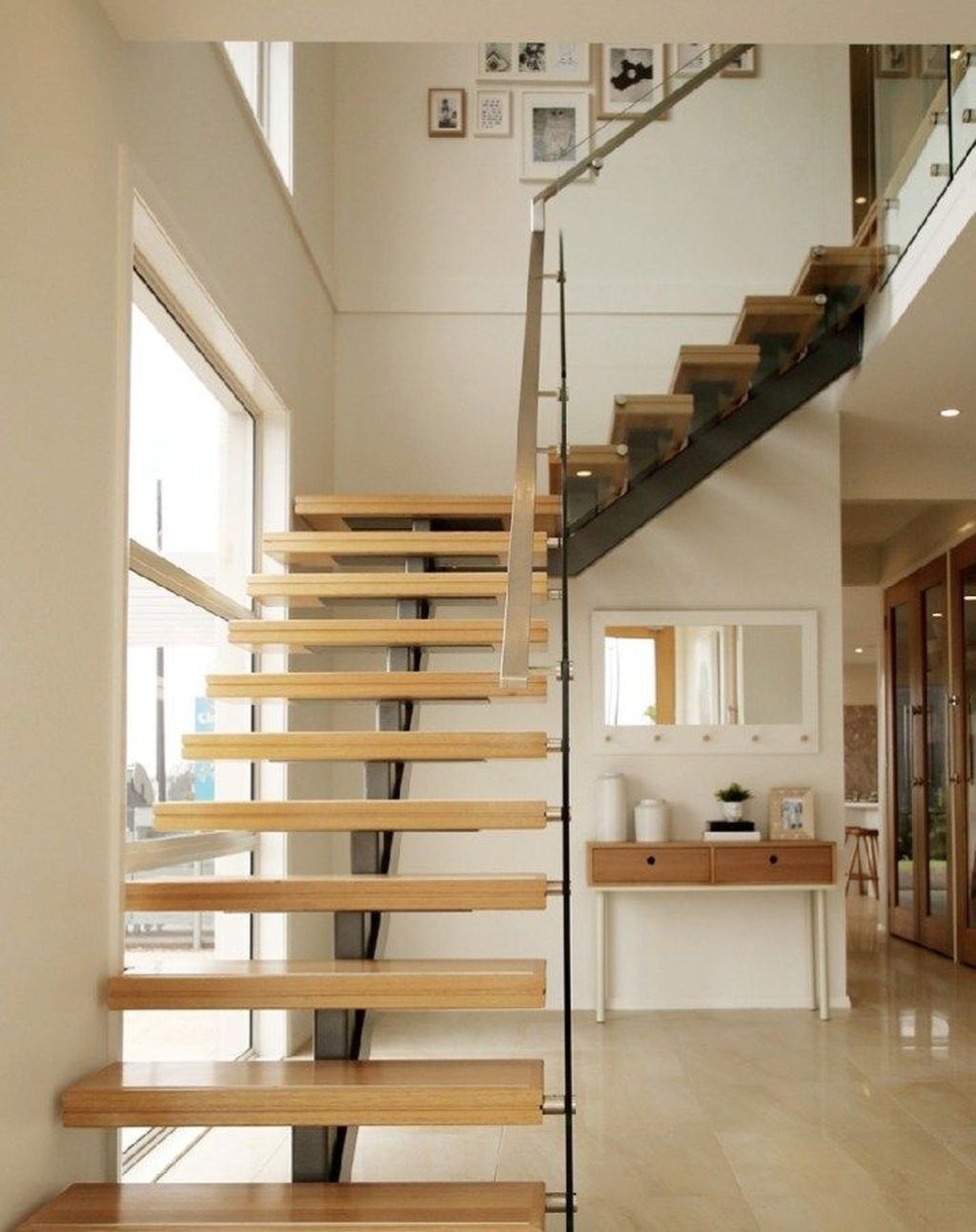 Stunning Wooden Stairs Design Ideas 13