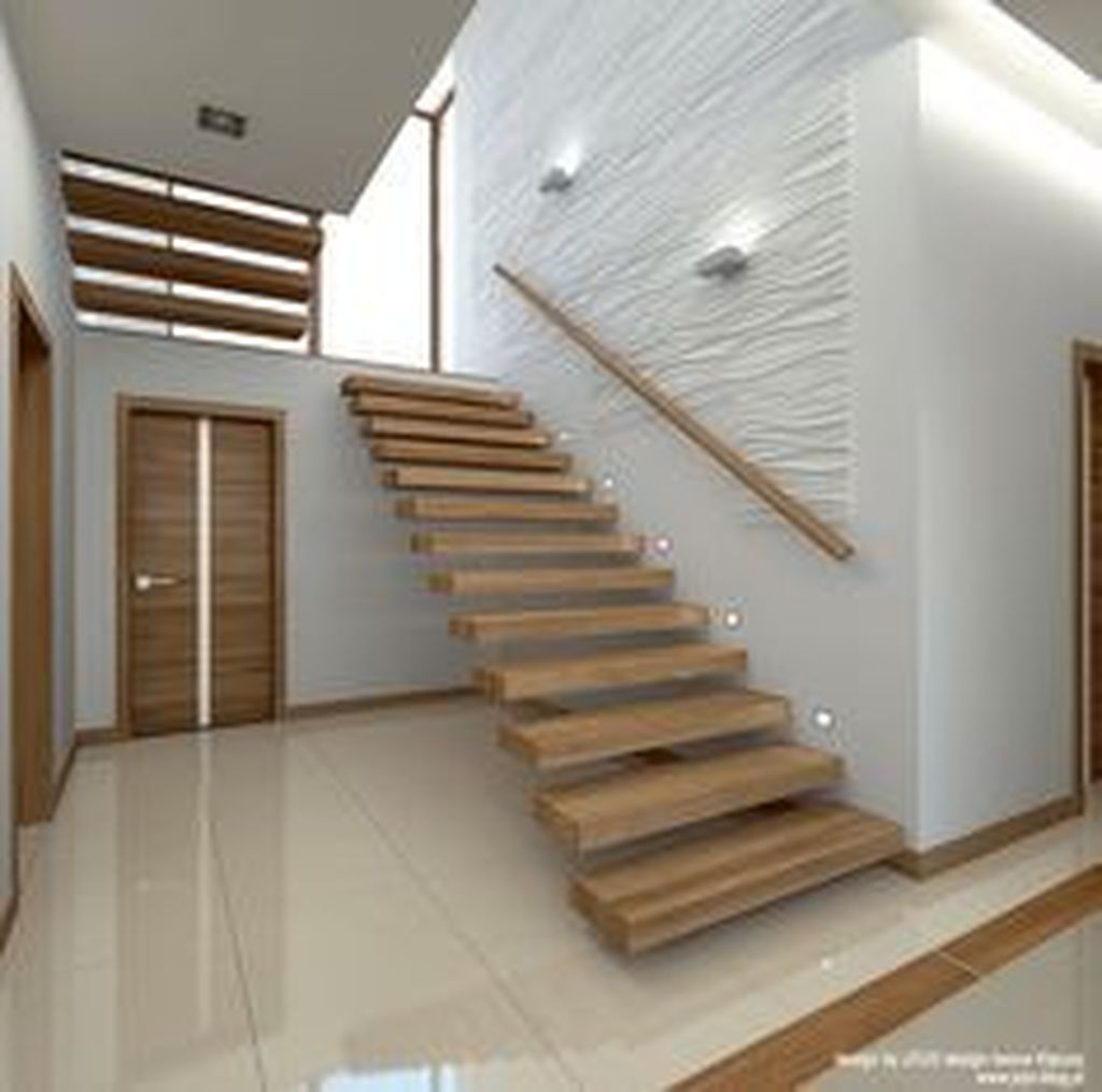 Stunning Wooden Stairs Design Ideas 26