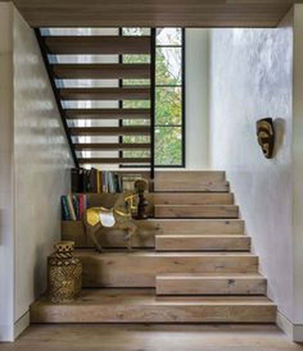 Stunning Wooden Stairs Design Ideas 31