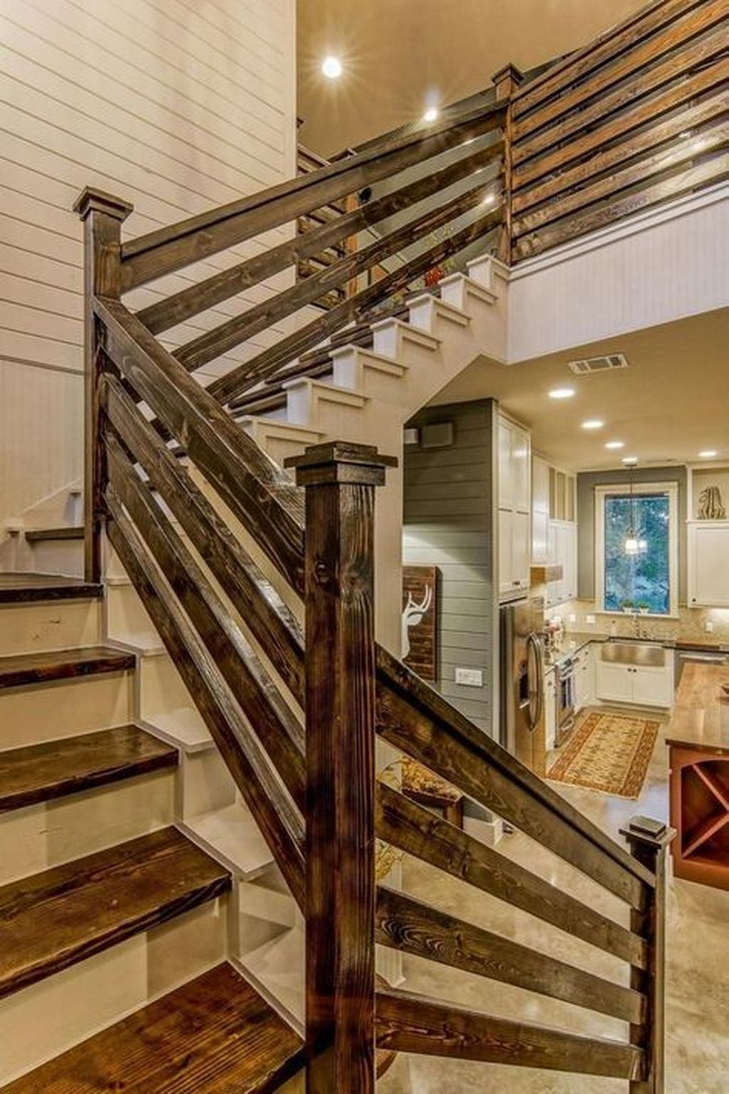 Stunning Wooden Stairs Design Ideas 36