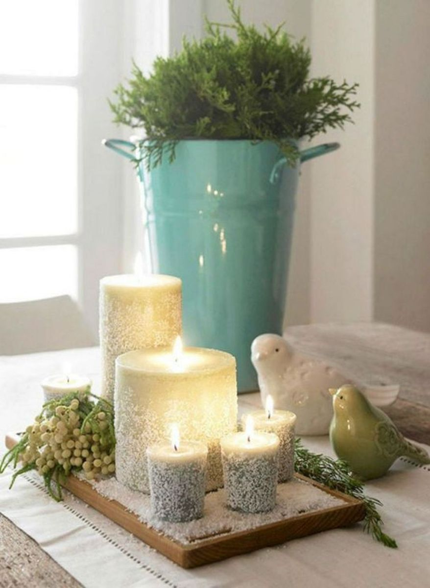 Nice Winter Table Centerpieces Decoration Ideas 04