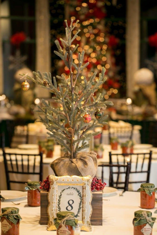 Nice Winter Table Centerpieces Decoration Ideas 16