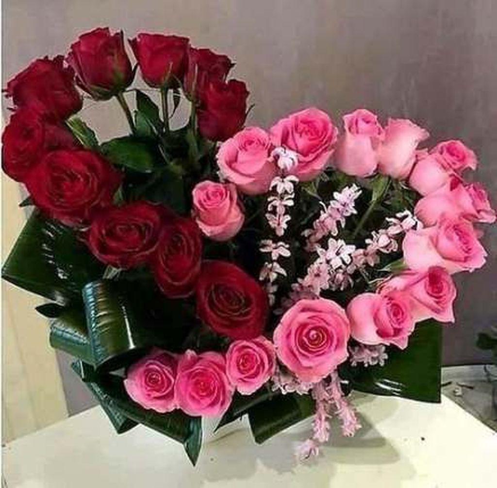 Beautiful Valentine Flower Arrangements That You Will Like 16