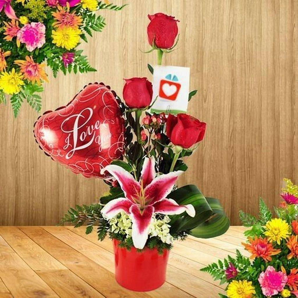 Beautiful Valentine Flower Arrangements That You Will Like 22