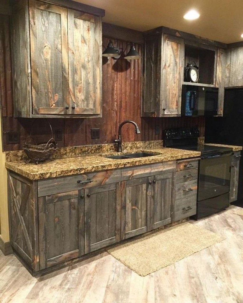 Fabulous Modern Rustic Kitchen Cabinets 02