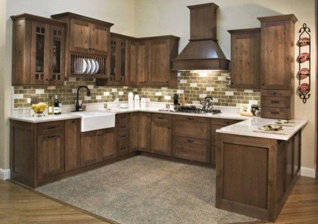 Fabulous Modern Rustic Kitchen Cabinets 10