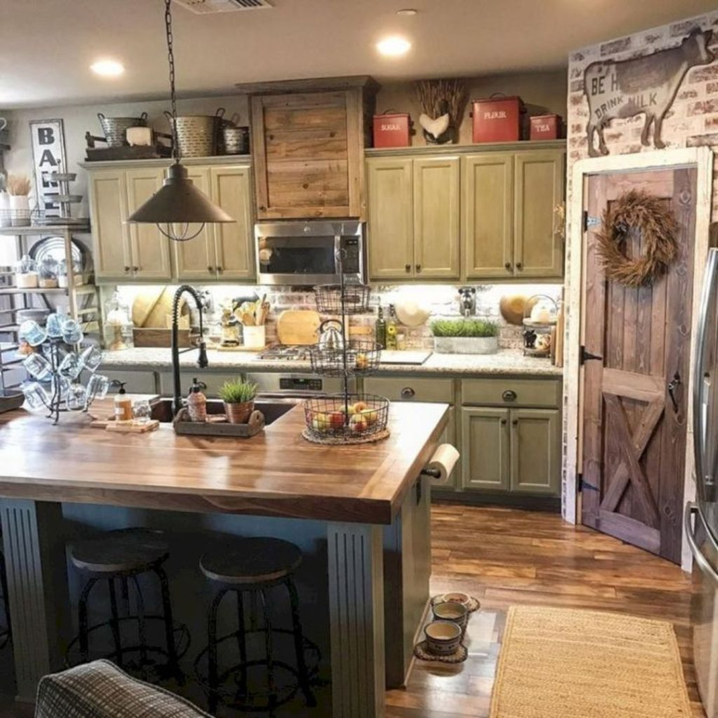 Fabulous Modern Rustic Kitchen Cabinets 18