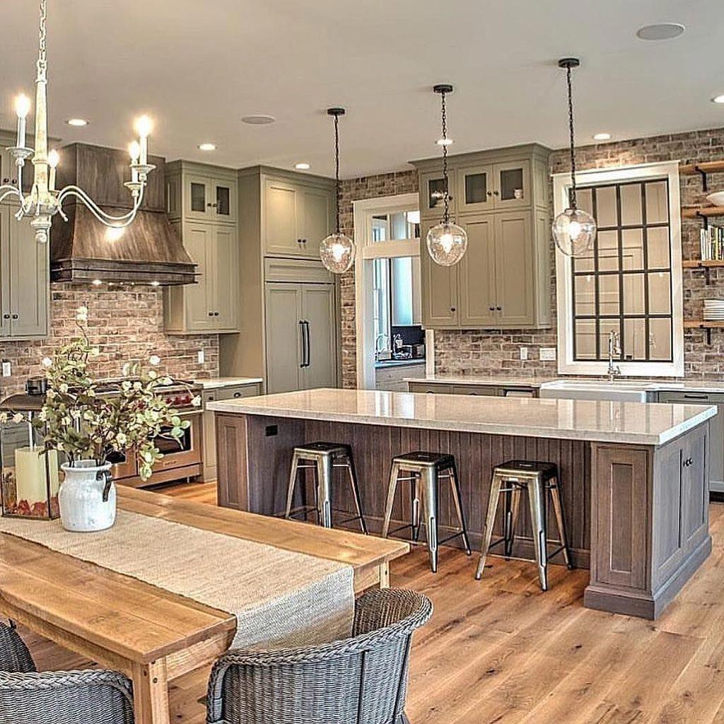 Fabulous Modern Rustic Kitchen Cabinets 20