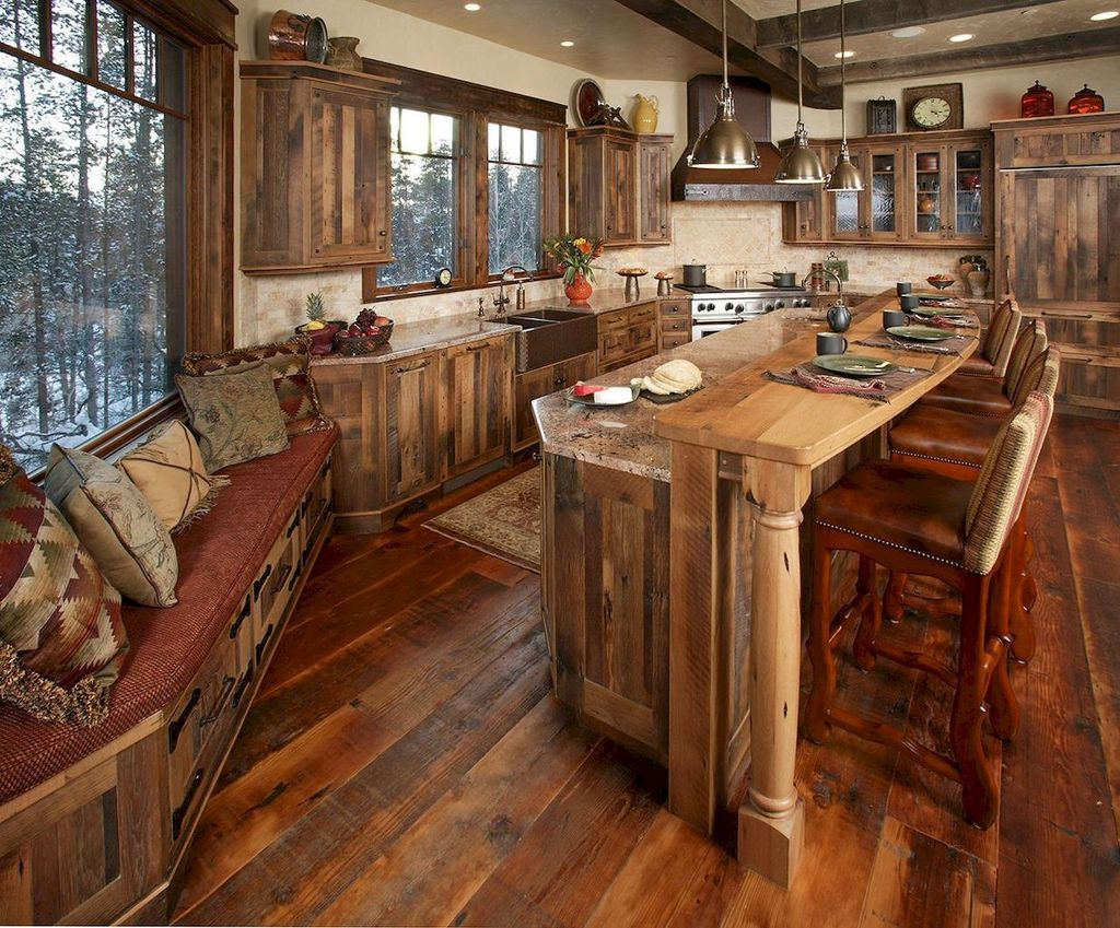 Fabulous Modern Rustic Kitchen Cabinets 30