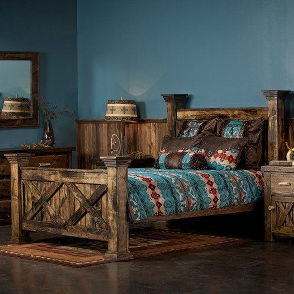 Gorgeous Rustic Bedroom Design And Decoration Ideas 13