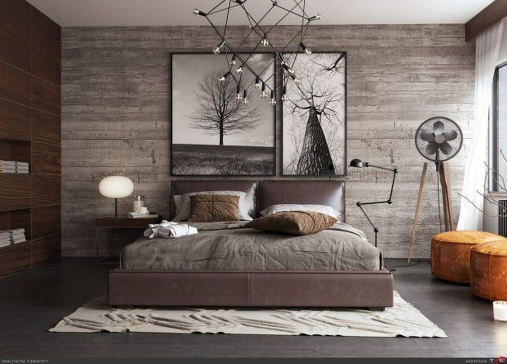 Gorgeous Rustic Bedroom Design And Decoration Ideas 17