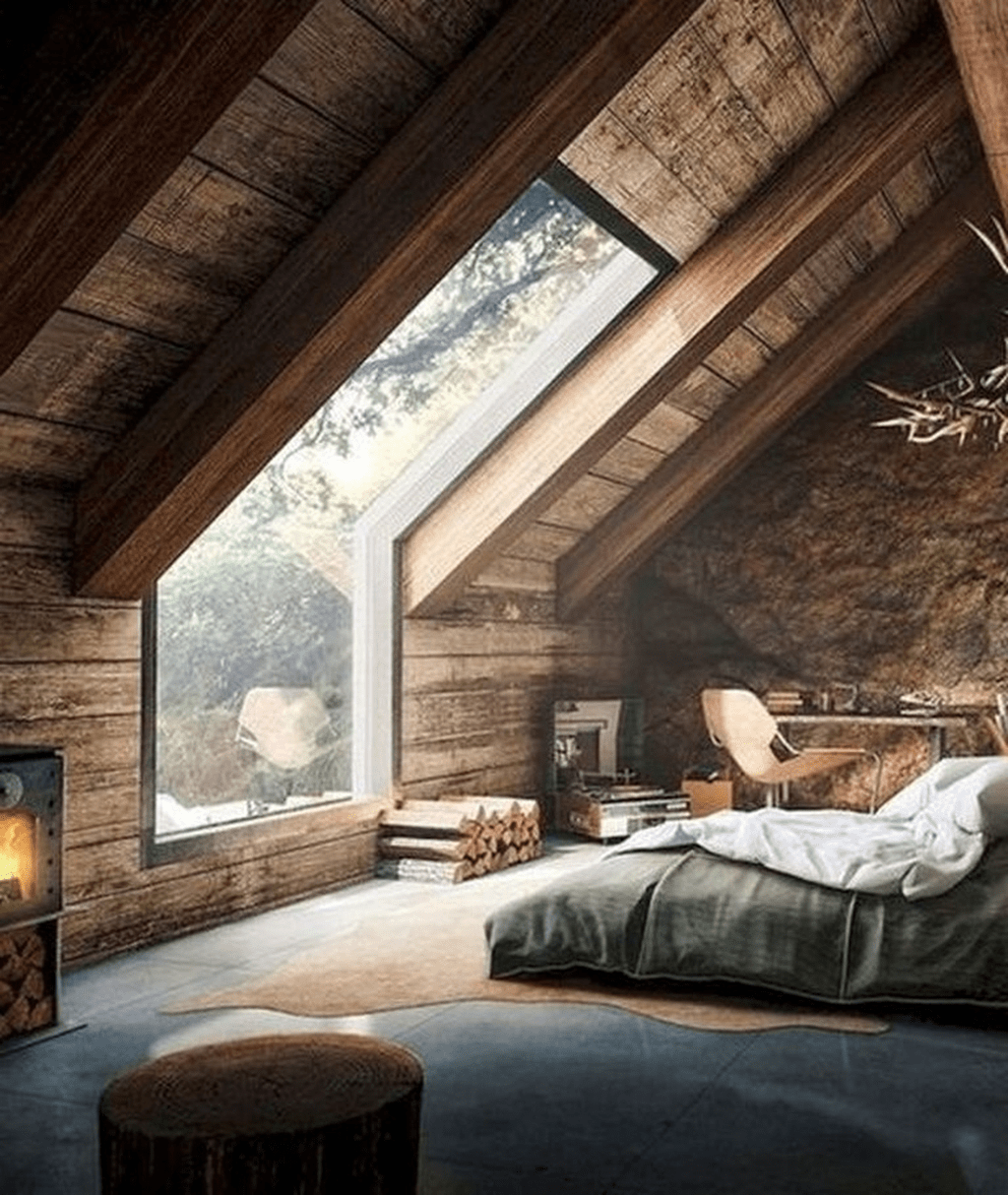 Gorgeous Rustic Bedroom Design And Decoration Ideas 24