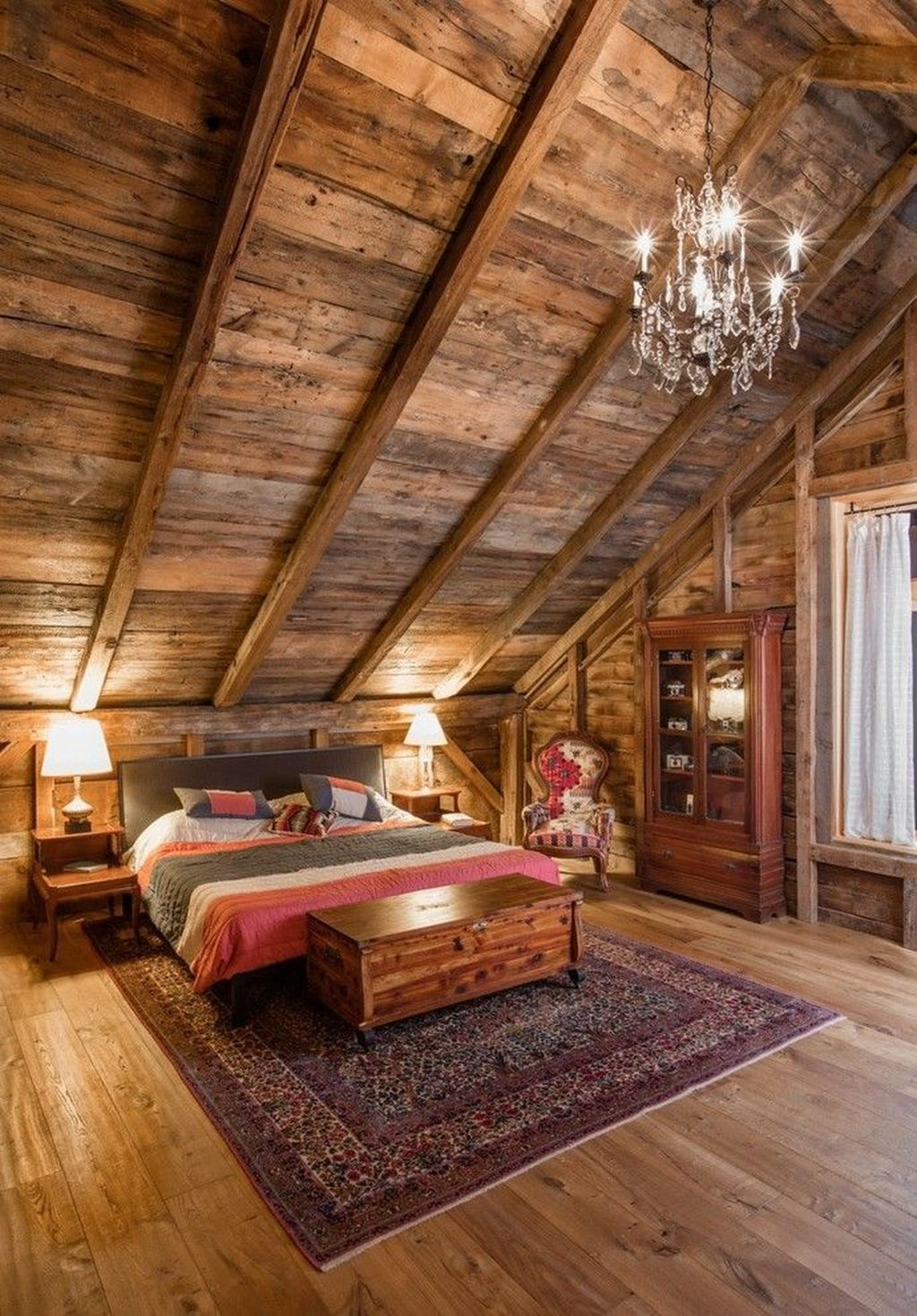 Gorgeous Rustic Bedroom Design And Decoration Ideas 26