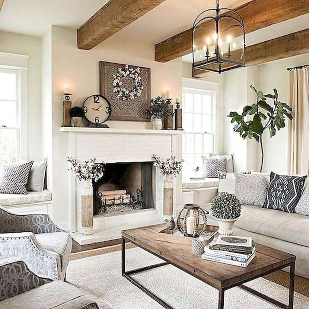 Popular French Country Living Room Decoration Ideas 06