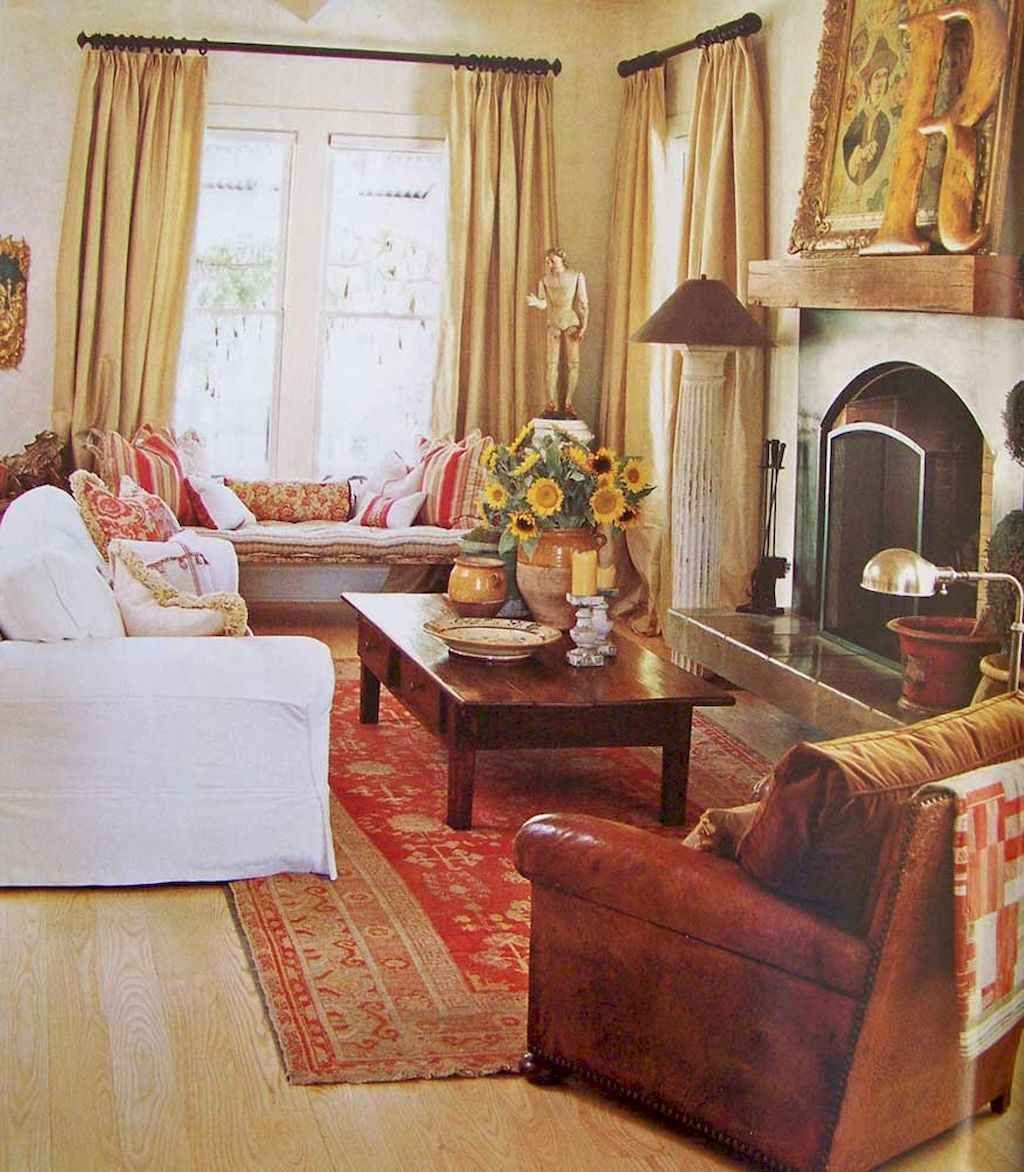 Popular French Country Living Room Decoration Ideas 22