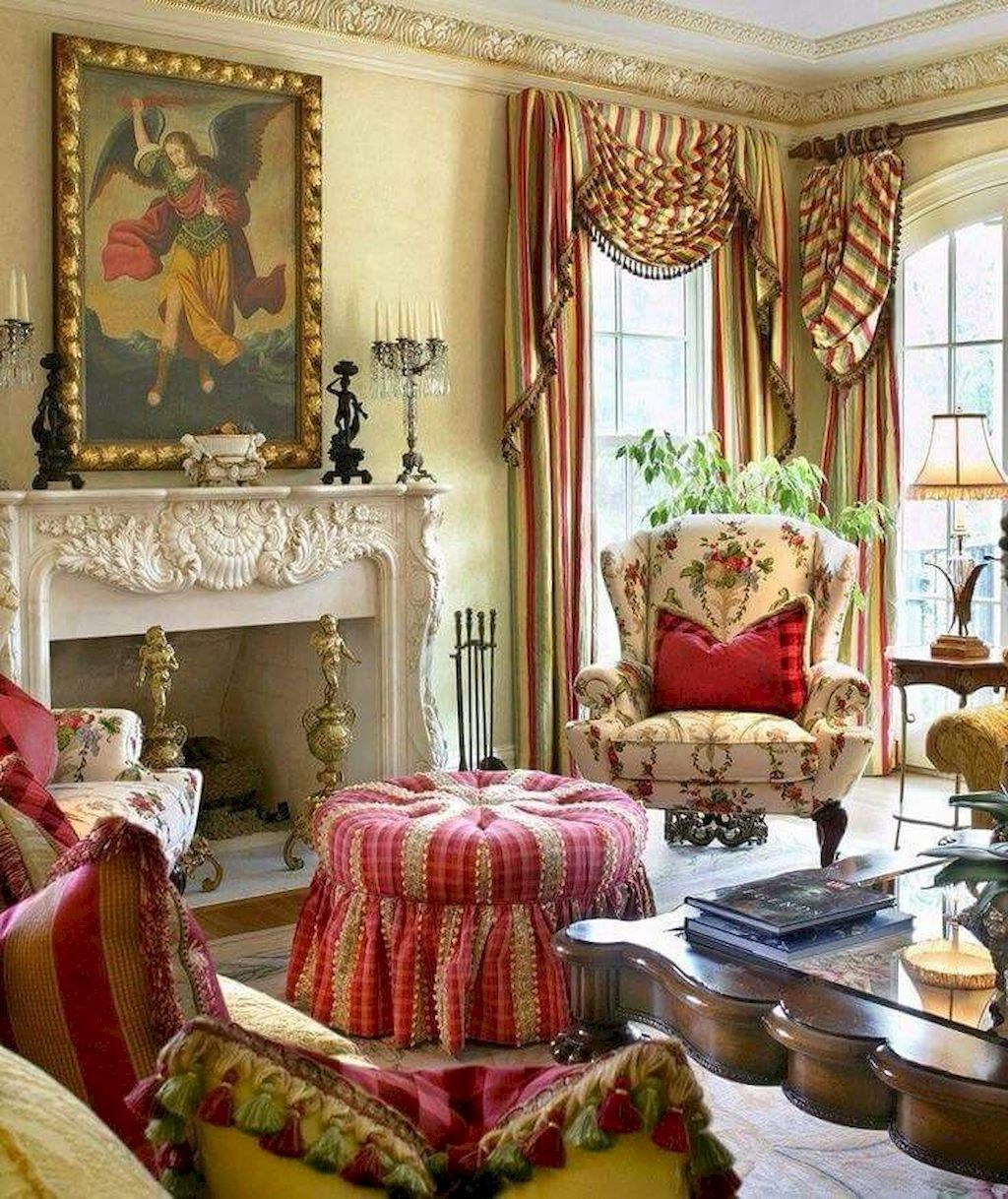 Popular French Country Living Room Decoration Ideas 24