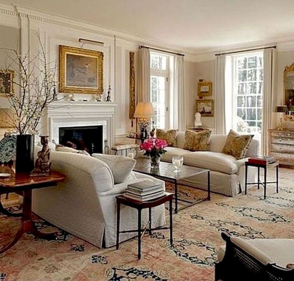 Popular French Country Living Room Decoration Ideas 26