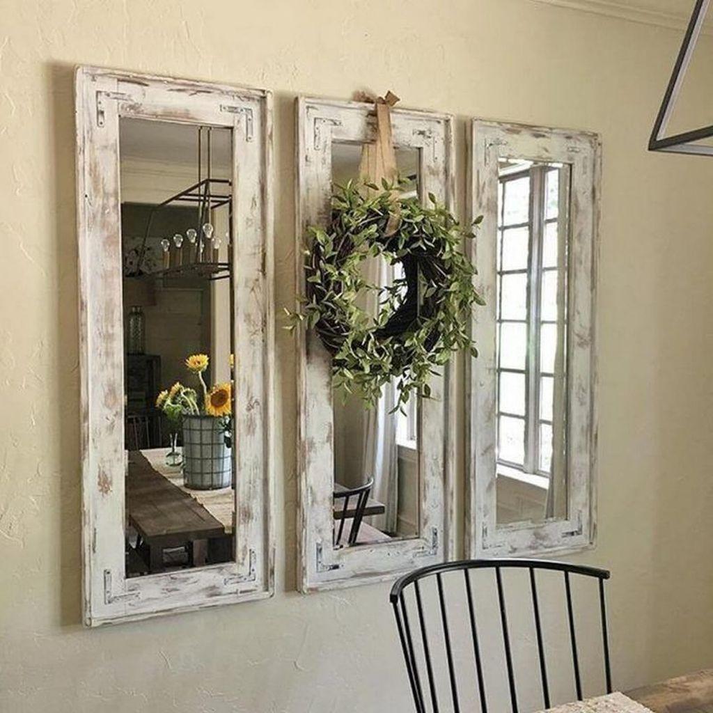 Popular Mirror Wall Decor Ideas Best For Living Room 11
