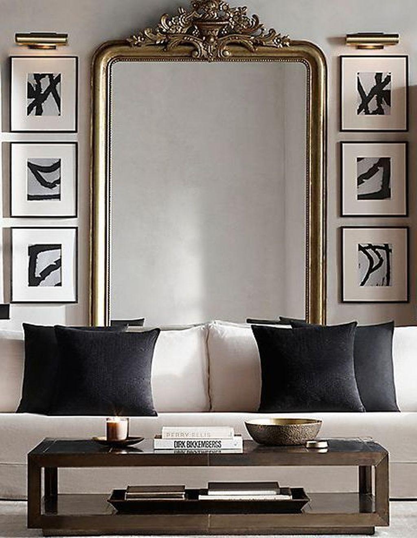 Popular Mirror Wall Decor Ideas Best For Living Room 23