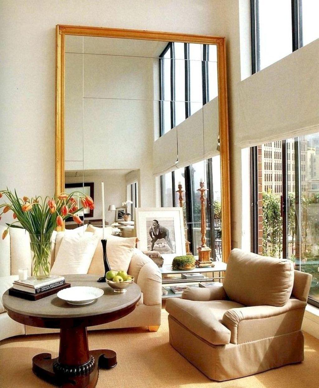 Popular Mirror Wall Decor Ideas Best For Living Room 26