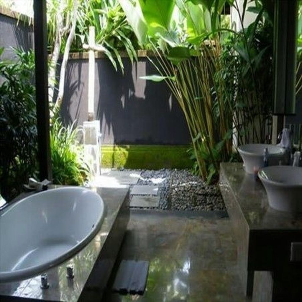 The Best Jungle Bathroom Decor Ideas To Get A Natural Impression 07