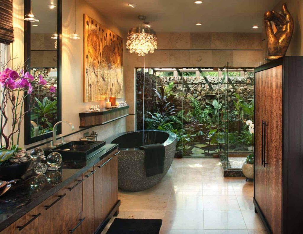 The Best Jungle Bathroom Decor Ideas To Get A Natural Impression 20