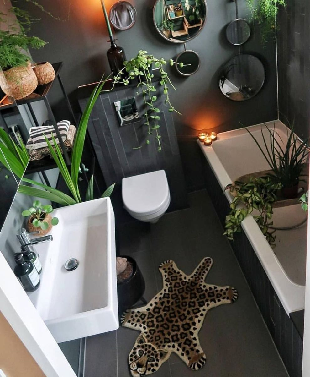 The Best Jungle Bathroom Decor Ideas To Get A Natural Impression 21