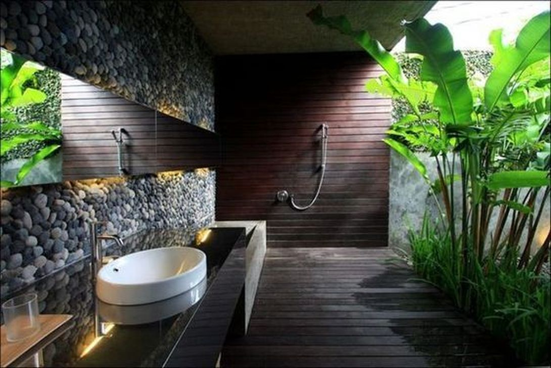 The Best Jungle Bathroom Decor Ideas To Get A Natural Impression 33
