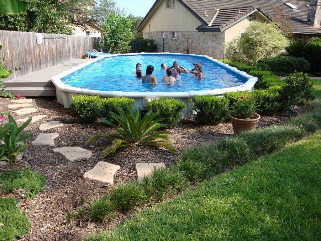Amazing Ground Pool Landscaping That You Should Copy 10