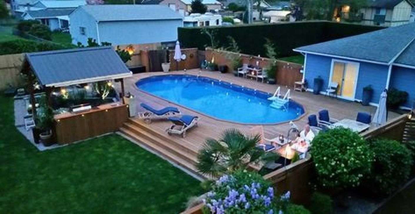 Amazing Ground Pool Landscaping That You Should Copy 11