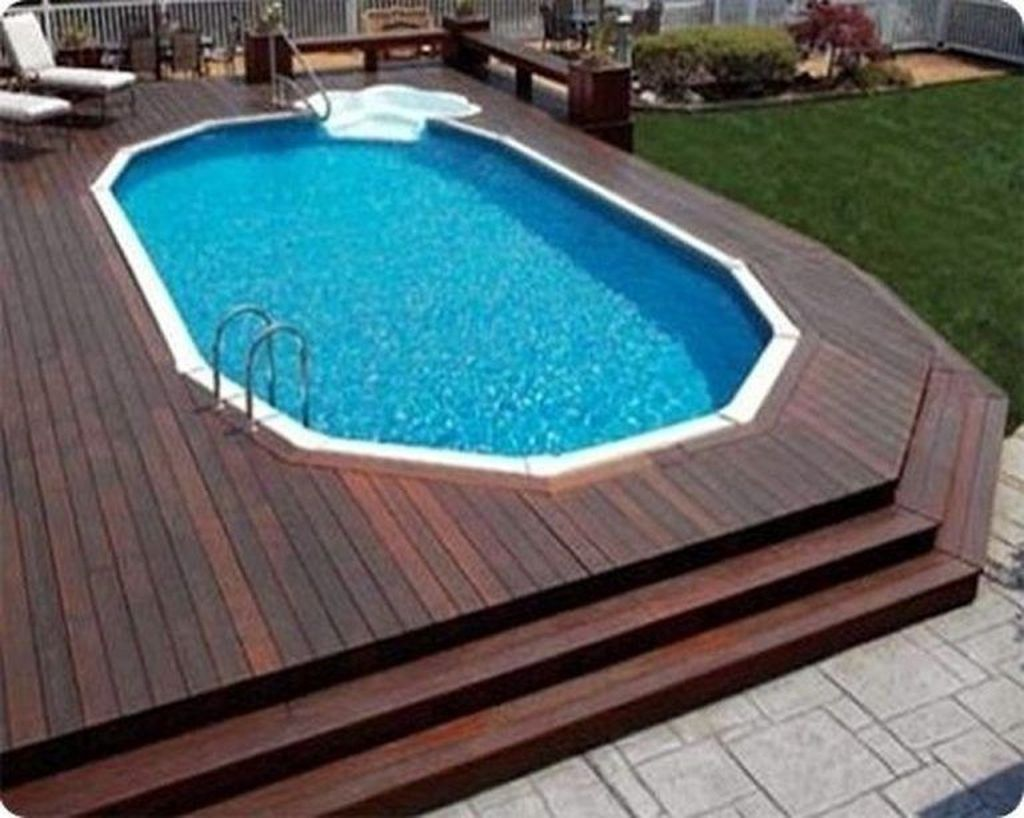 Amazing Ground Pool Landscaping That You Should Copy 13