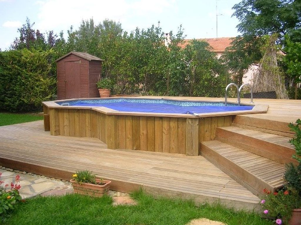 Amazing Ground Pool Landscaping That You Should Copy 20