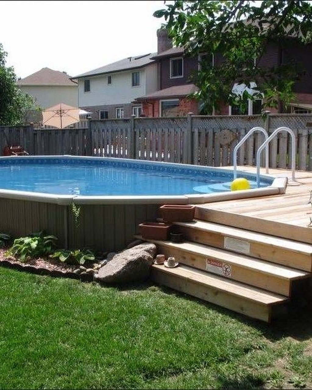 Amazing Ground Pool Landscaping That You Should Copy 34