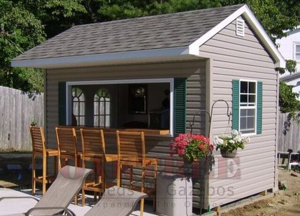 Beautiful Backyard Shed Landscaping Ideas 02