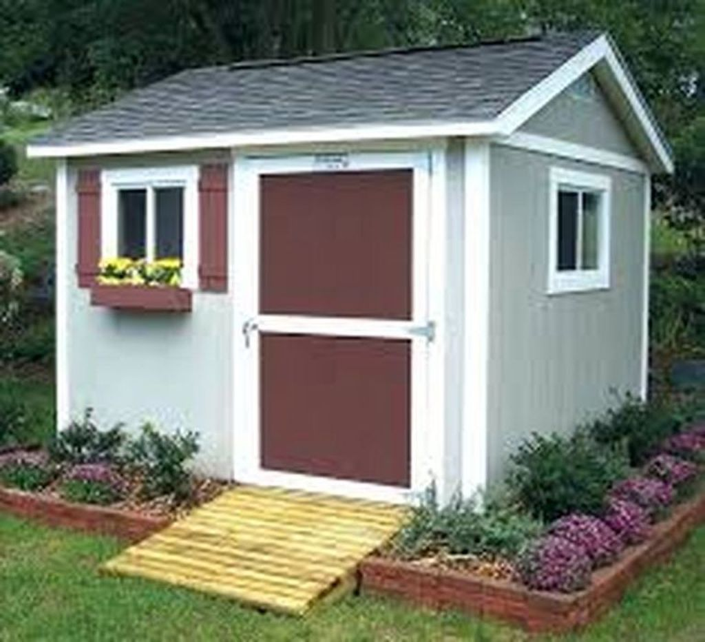Beautiful Backyard Shed Landscaping Ideas 03