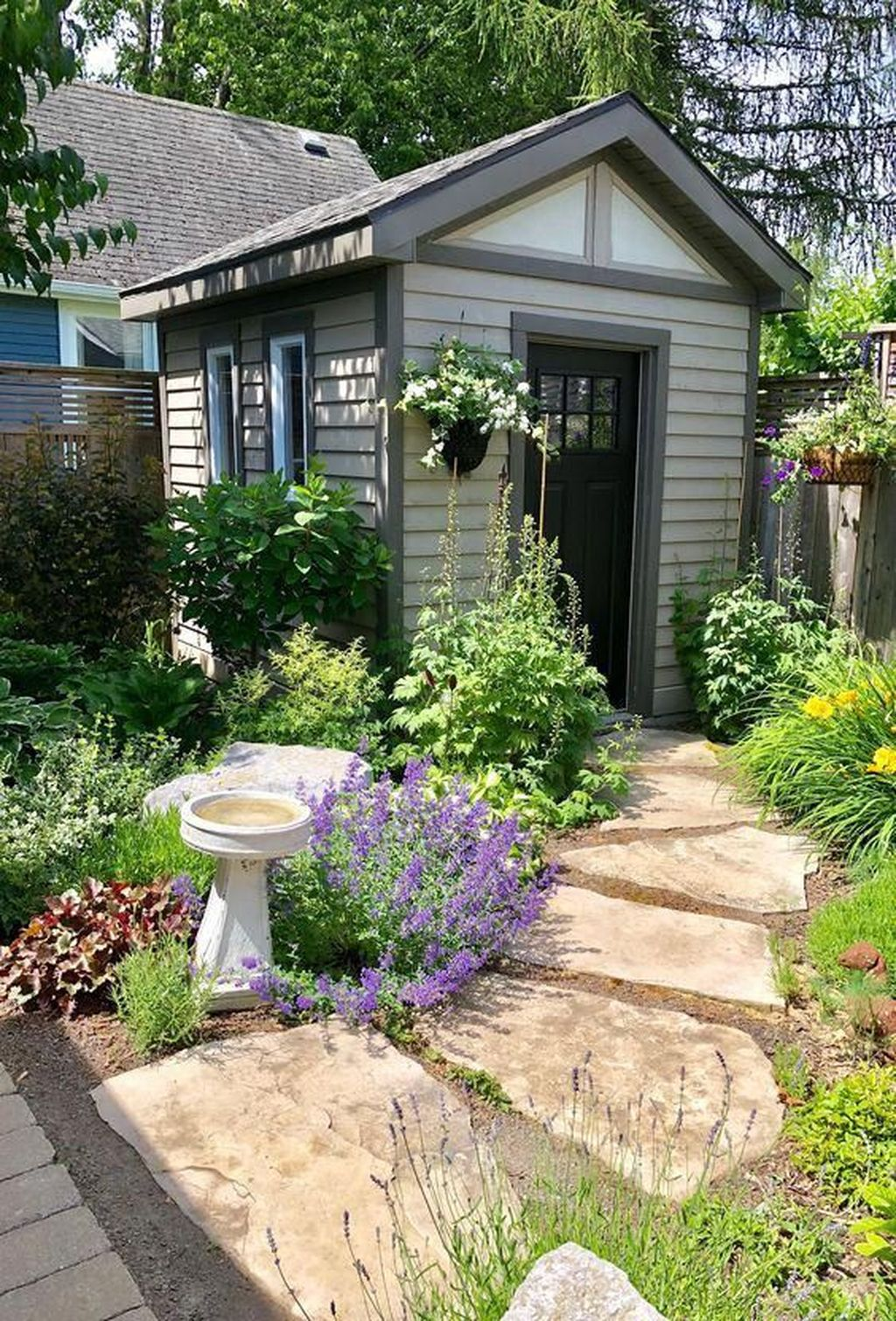 Beautiful Backyard Shed Landscaping Ideas 17