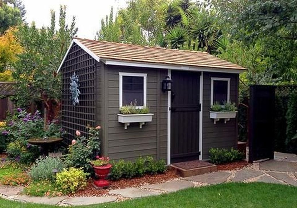 Beautiful Backyard Shed Landscaping Ideas 24