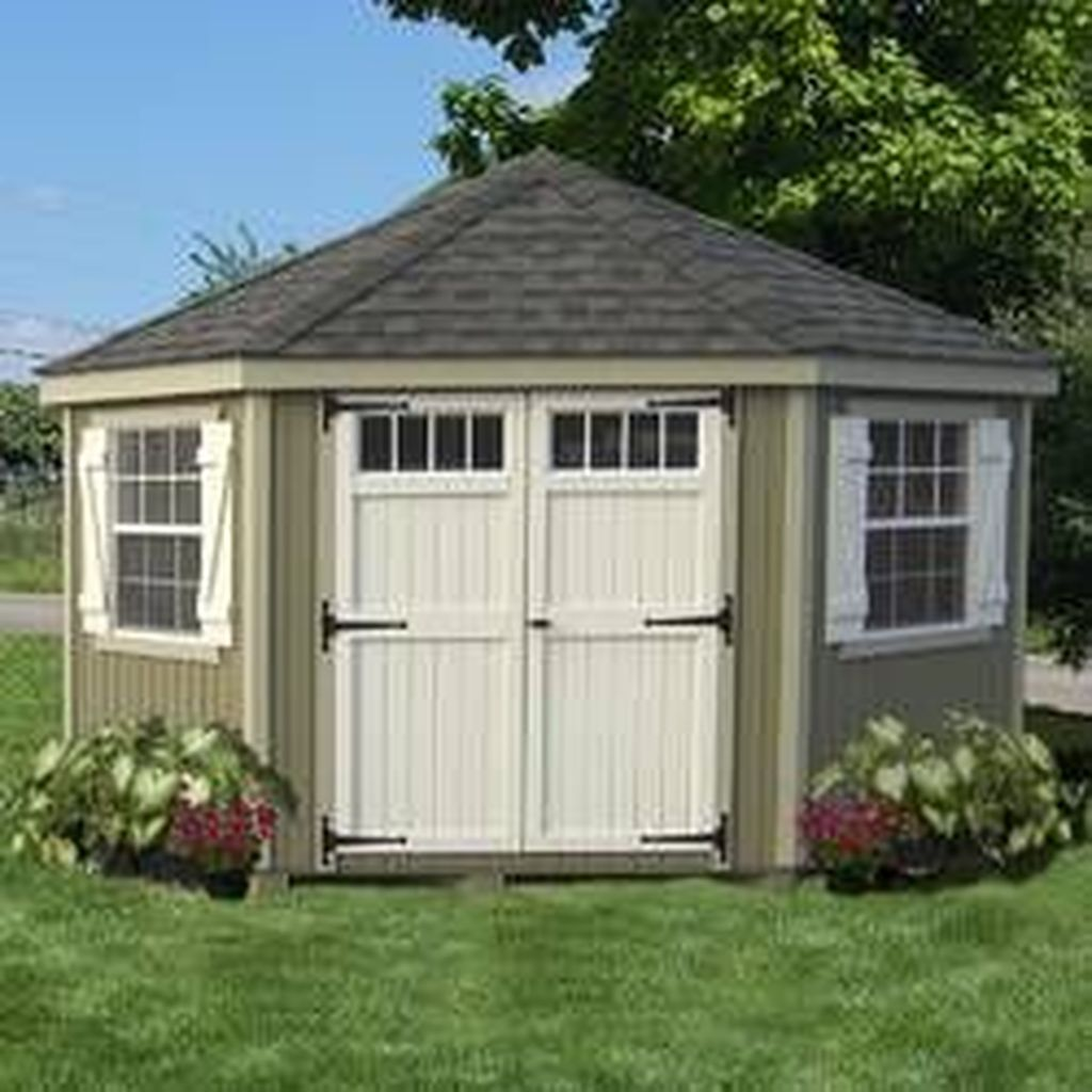 Beautiful Backyard Shed Landscaping Ideas 26