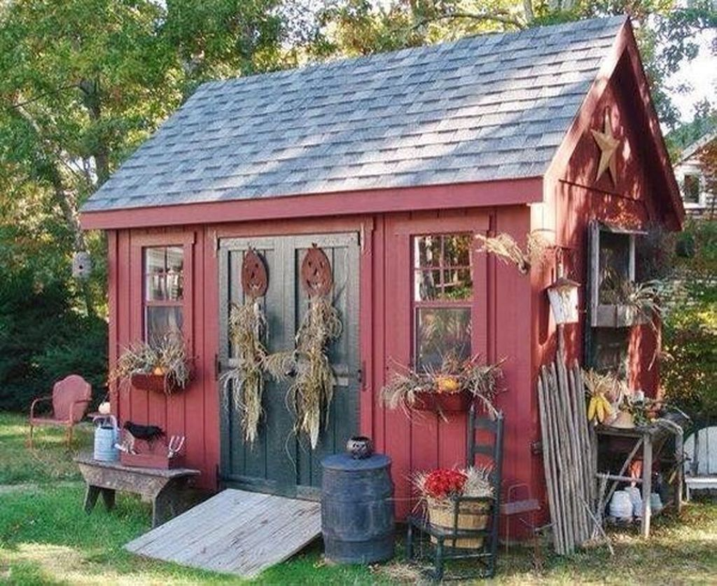 Beautiful Backyard Shed Landscaping Ideas 29