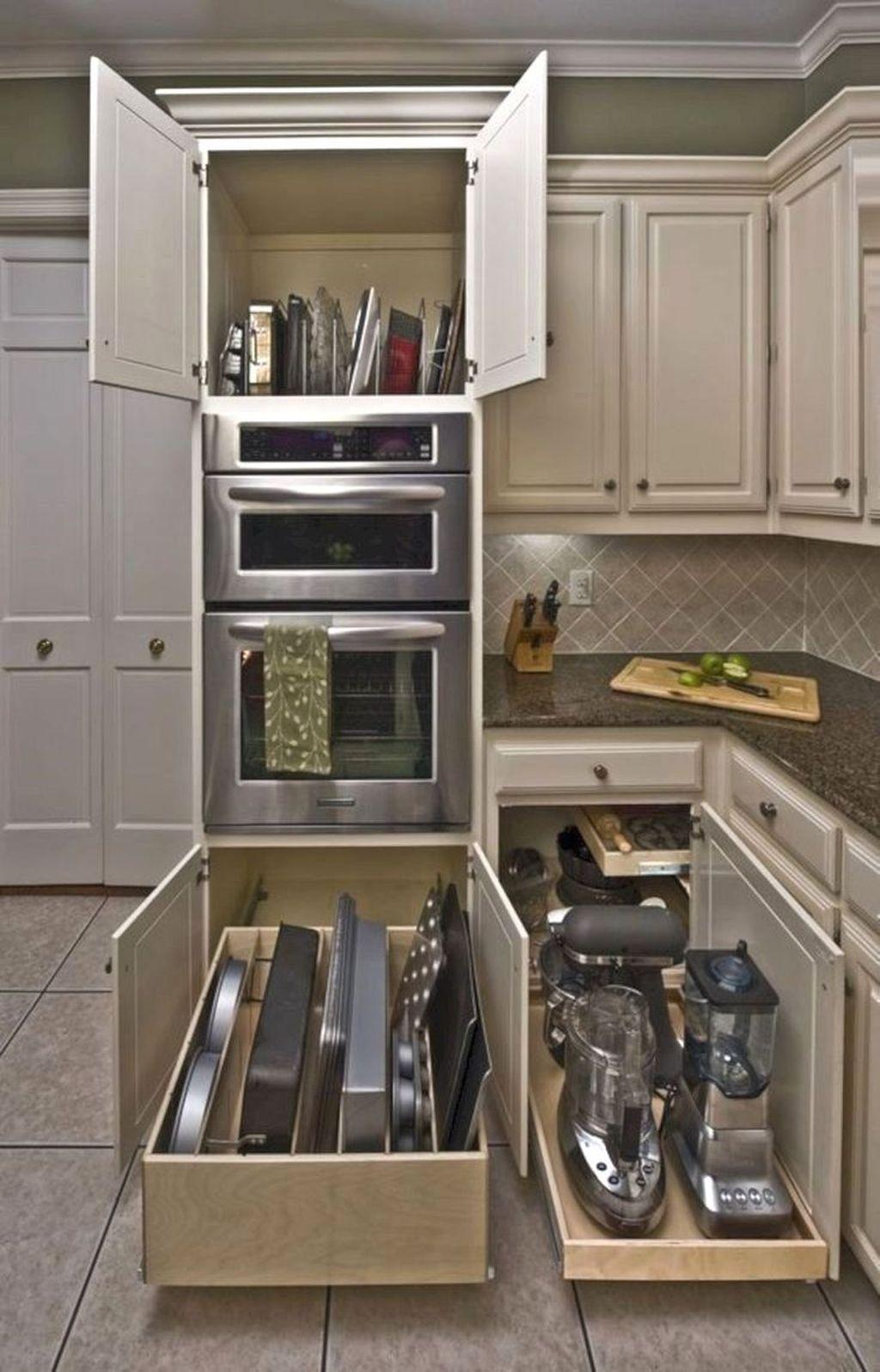 Best Design Ideas For Kitchen Organization Cabinets 35